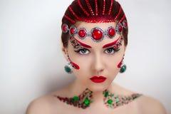 Czerwona sztuki kobieta Zdjęcia Royalty Free