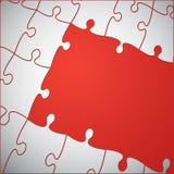 Czerwona tło łamigłówka wyrzynarki łamigłówka ilustracja wektor