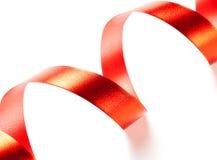 czerwona tasiemkowa serpentyna Obraz Royalty Free