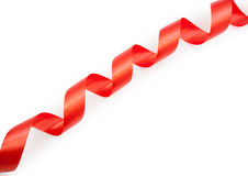 Czerwona tasiemkowa serpentyna solated Fotografia Royalty Free