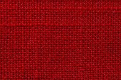 Czerwona tkanina sukienny tekstury tło Szczegół tekstylny materiał w górę obrazy royalty free