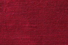 Czerwona tkanina sukienny tekstury tło Szczegół tekstylny materiał w górę zdjęcia royalty free