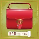 Czerwona torba ilustracja wektor
