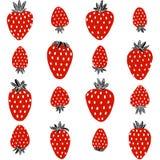 Czerwona truskawka na białym tle ilustracji