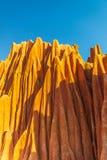 Czerwona Tsingy kamienia formacja, Irodo rzeczna dolina, Diana okr?g fotografia royalty free