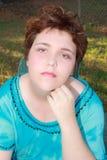 Czerwona włosiana kobieta zdjęcie stock