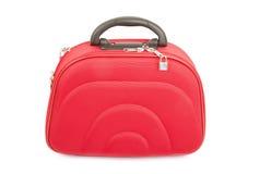 Czerwona walizka Zdjęcia Stock