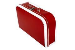 czerwona walizka Obrazy Stock