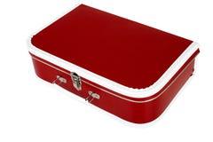 czerwona walizka Obraz Stock