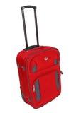 czerwona walizka Zdjęcia Royalty Free