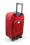 czerwona walizka podróży Zdjęcie Stock