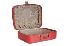 czerwona walizka roczne Fotografia Royalty Free