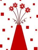 czerwona waza Zdjęcia Royalty Free