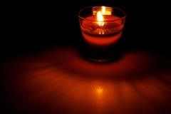 Czerwona świeczka Obrazy Stock