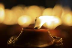 Czerwona świeczka zdjęcie royalty free