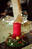 Czerwona świeczka Fotografia Stock