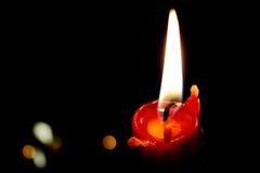 Czerwona świeczka Fotografia Royalty Free