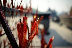 Czerwona świeczka Zdjęcia Stock