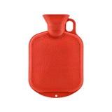 czerwona wody gorącej butelek Zdjęcia Royalty Free