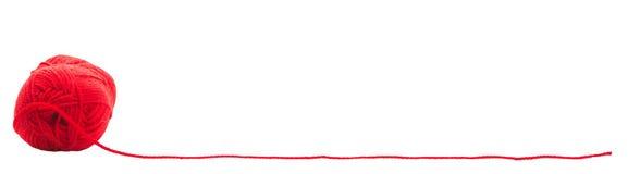 Czerwona woolen nić i miejsce Obraz Stock