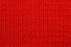 Czerwona woolen tekstura Fotografia Royalty Free