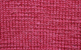 Czerwona woolen tekstura Obrazy Royalty Free