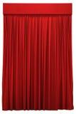 Czerwona zasłona zdjęcia stock
