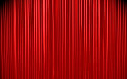 Czerwona zasłona Obraz Stock