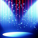 Czerwona zasłona z światłem reflektorów Obrazy Stock