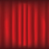 Czerwona zasłona z światłem reflektorów ilustracji