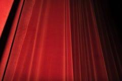 Czerwona zasłony scena Teatru wizerunku pojęcie Obraz Stock