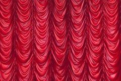 Czerwona zasłona Zdjęcie Stock
