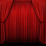 czerwona zasłony scena Fotografia Royalty Free