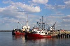 Czerwone łodzie obraz royalty free