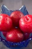 Czerwone śliwki zdjęcie royalty free