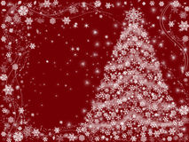 czerwone świąteczne drzewko Zdjęcia Royalty Free