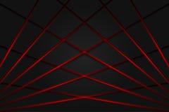 Czerwone światło linii cienia zmroku popielaty tło ilustracja wektor