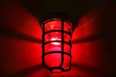 Czerwone światło okręg Obrazy Stock