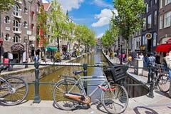 Czerwone Światło okręg w Amsterdam, holandie Obrazy Royalty Free