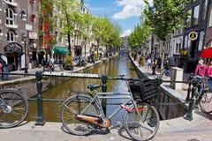 Czerwone Światło okręg w Amsterdam, holandie Fotografia Royalty Free