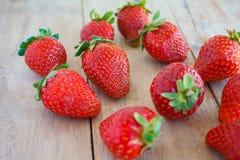 czerwone świeże truskawki Zdjęcie Stock