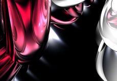 czerwone 01 srebrny mikrofon Obraz Stock