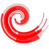 czerwone abstrakcyjna fale raster Obraz Stock