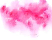 Czerwone akwareli tekstury smugi Fotografia Royalty Free