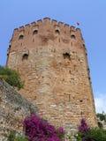 czerwone alanya wieży indyk fotografia stock