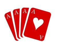Czerwone as karty Karciany kostium - akcyjny wektor Obrazy Royalty Free