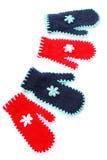 czerwone błękitny rękawiczki zdjęcia royalty free