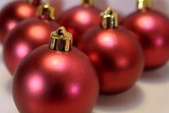 czerwone baubles Zdjęcie Stock
