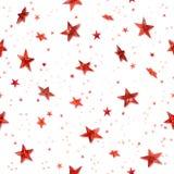 czerwone bezszwowe gwiazdy royalty ilustracja