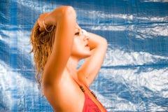 czerwone bikini zdjęcie royalty free